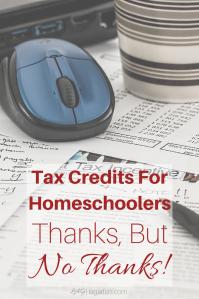 Federal tax credits for homeschoolers?