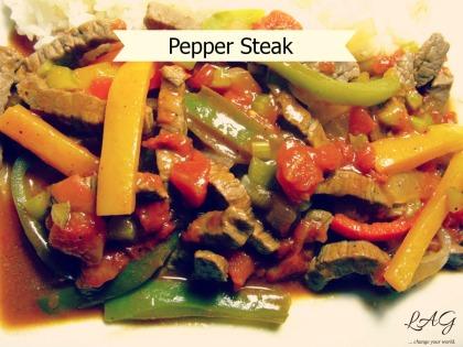 quick and easy pepper steak recipe via lagarfias.com