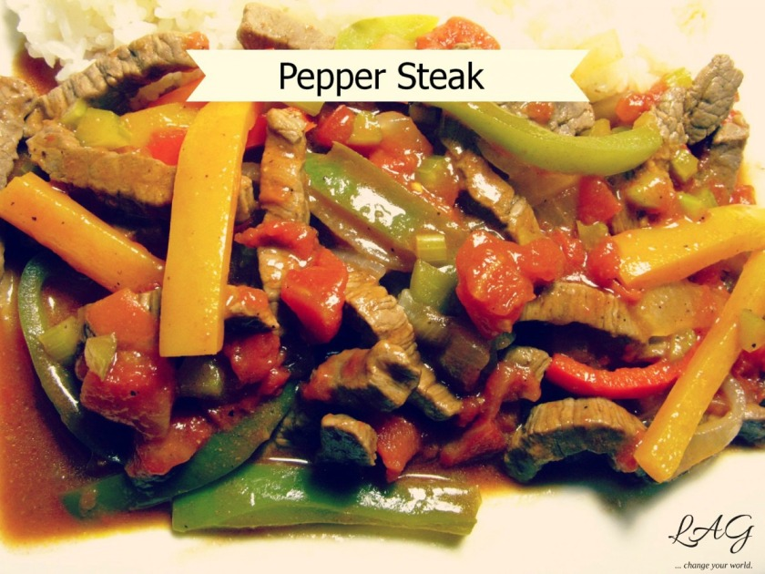quick and easy pepper steak recipe via lagarfias.com