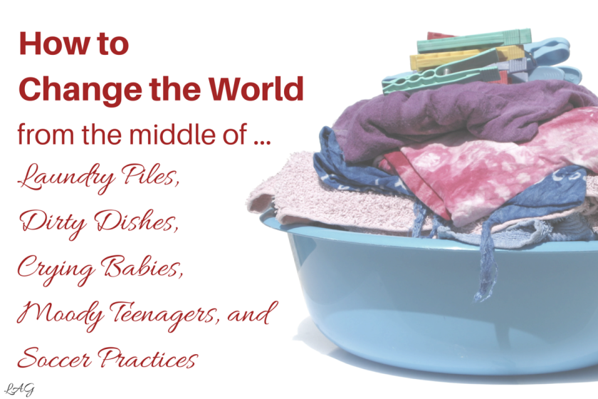 how to change the world from the middle of laundry piles