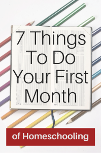 7 things to do your first year of homeschooling