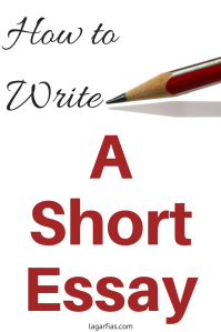 how to write a short essay