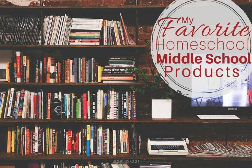 A peek into our homeschool middle school bookshelf.