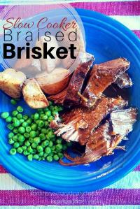 Slow Cooker Braised Brisket...from #ordinaryextraordinarydinners