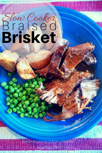 Slow Cooker Braised Brisket...from #ordinaryextraordinarydinners