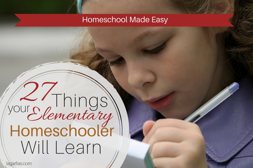 Here's 27 things your #homeschool student will learn before middle school. #write31days