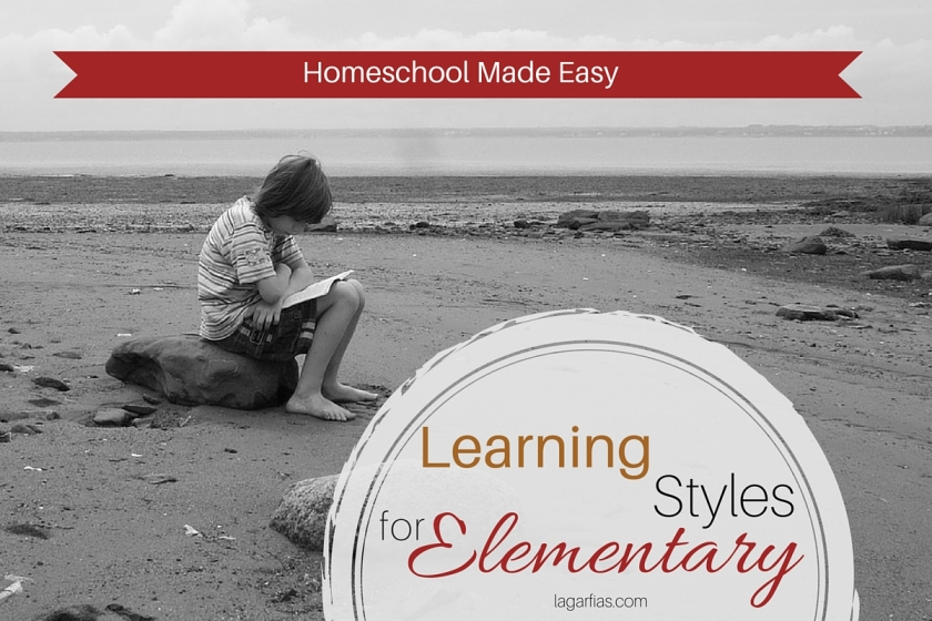 How to help your elementary student maximize his learning style. #homeschool #write31days