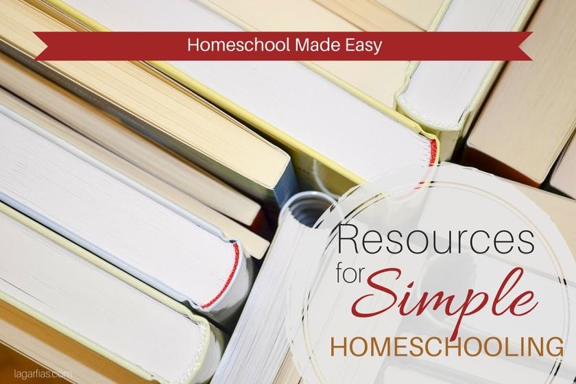 Here's all you need to keep homeschooling simple. #homeschoolmadeeasy