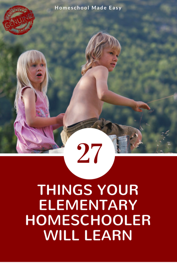 27 Things Your Elementary Homeschool Student Will Learn