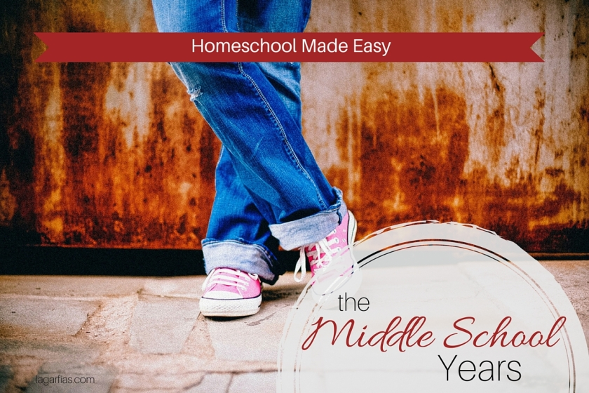 How to make the middle school years easier on you and on your #homeschool student. #homeschoolmadeeasy