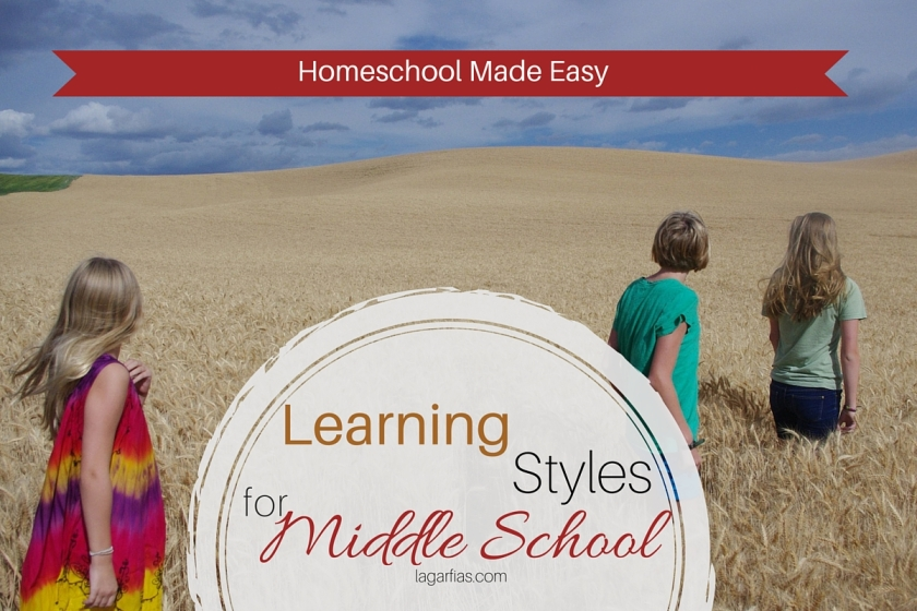 Help your middle school student use his learning style! #homeschool #homeschoolmadeeasy