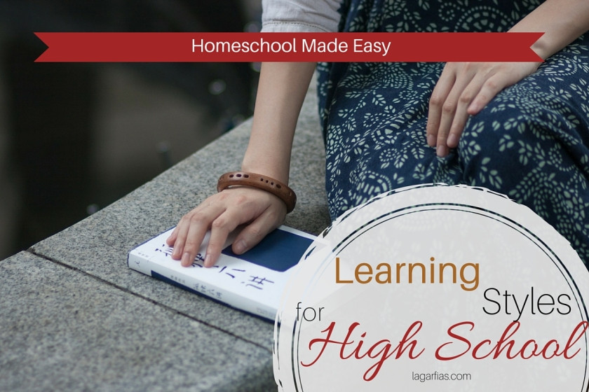 Help your #homeschool high school student use his own learning style! #homeschoolmadeeasy