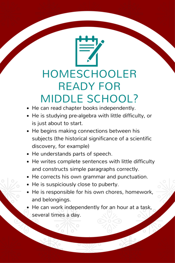 Is your homeschool student ready for middle school?