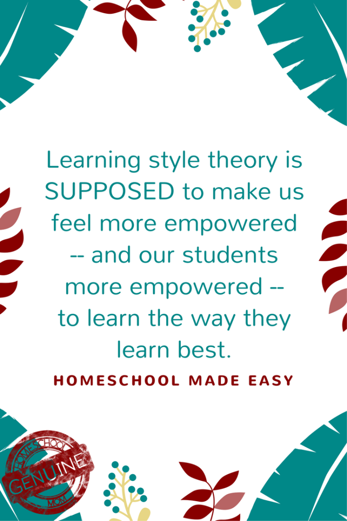 Do homeschool learning styles stress you out?