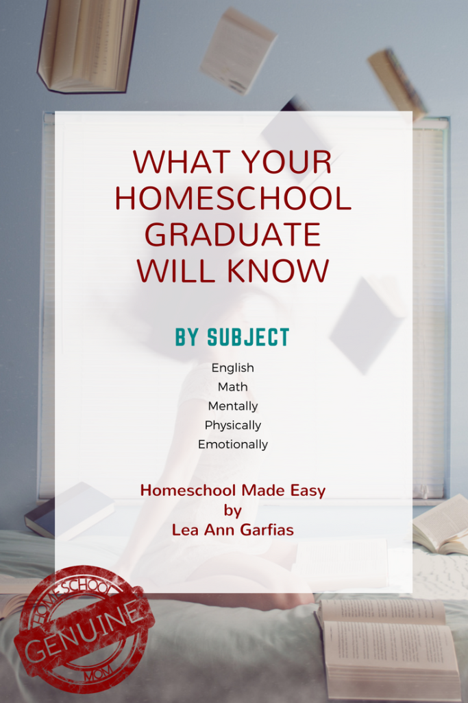 What Your Homeschool Graduate Will Know