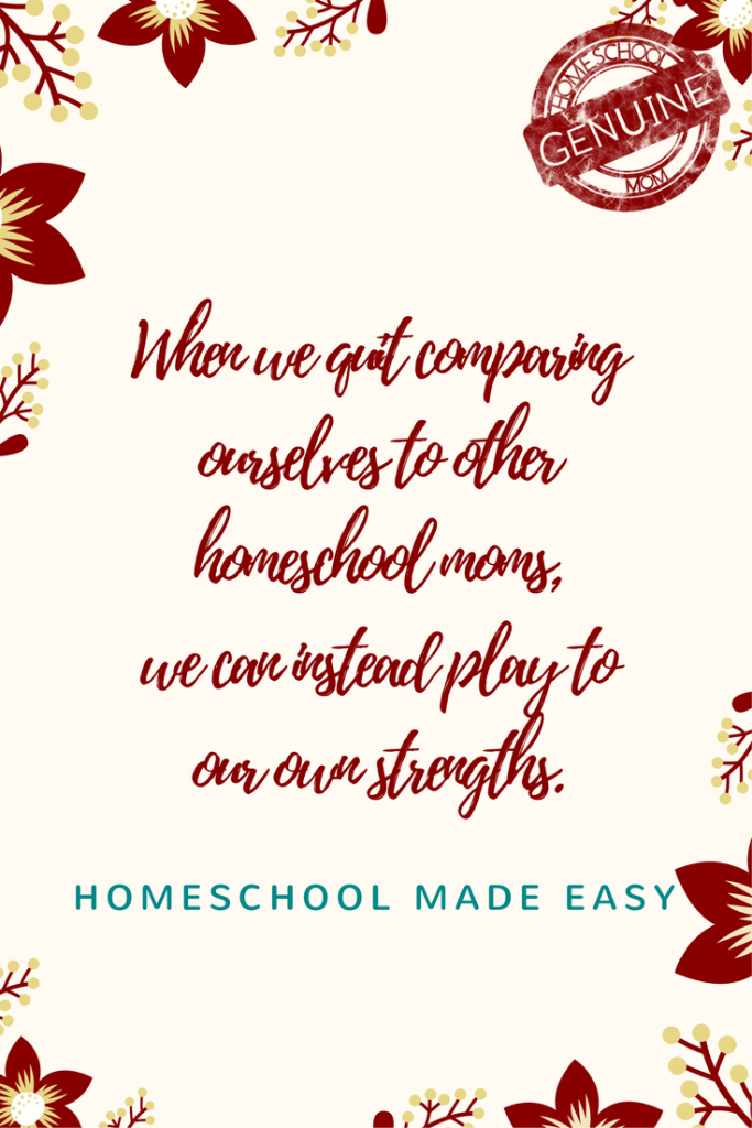 Stop comparing and start enjoying homeschooling