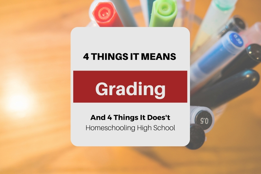 What grading our homeschooled high school students DOES and DOES NOT mean. #homeschoolhighschool