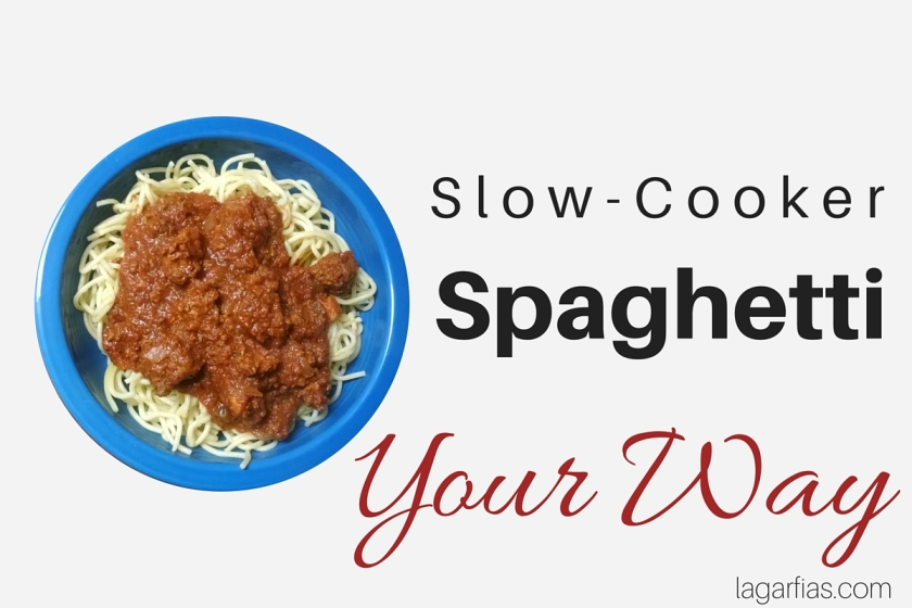 slow cooker spaghetti YOUR WAY #glutenfree #dairyfree
