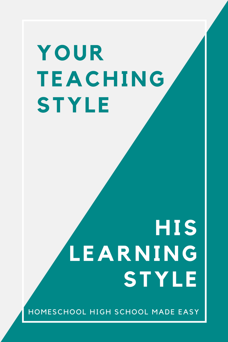 How does your student's learning style work with your teaching style?