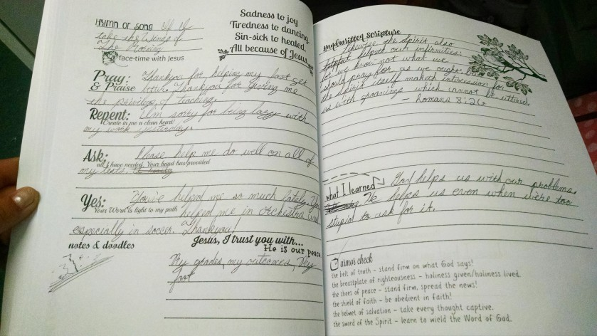 A peek into my daughter's Warrior in the Mirror Journal