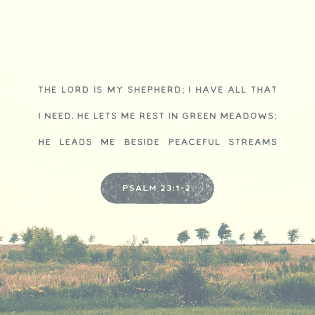 He gives us rest