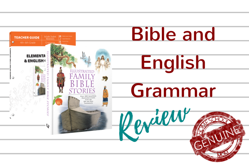 A unique combination of Bible and English for your upper elementary student