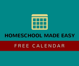 FREE Monthly Homeschool Made Easy Calendar!